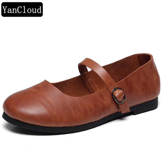 Vintage Women's Genuine Leather Summer Shoes by Pick a Product