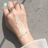 White Lace Women's Waterproof Temporary Tattoo Sticker by PickAProduct