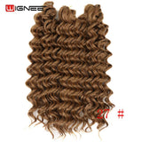 Wignee 3PCS/Lot 2 Tone Ombre Freetress Synthetic Hair Extension Crochet Twist Braiding Hair Brown/BUG/BLK Women Africa Hairstyle - little-darling-fashion-online