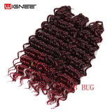 Wignee 3PCS/Lot 2 Tone Ombre Freetress Synthetic Hair Extension Crochet Twist Braiding Hair Brown/BUG/BLK Women Africa Hairstyle