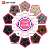 Wignee High Temperature Synthetic Fiber Curly Chignon Bun Hairpiece Elastic Fake Classic Hair Extensions For Black/White Women - little-darling-fashion-online