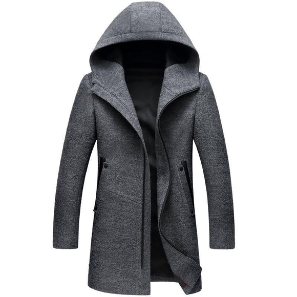 Winter Long Hooded Trench Coat - little-darling-fashion-online