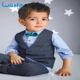 Wisefin Children 4 Piece Denim Suit - little-darling-fashion-online