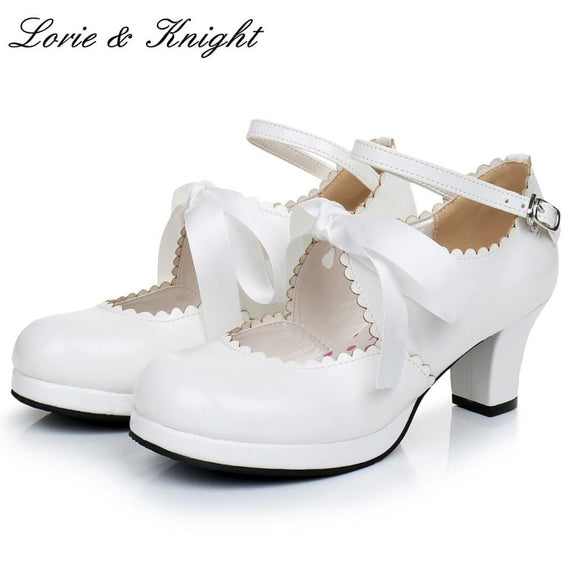 Women's Ribbon Bow Ankle Strap Shoes by Pick a Product