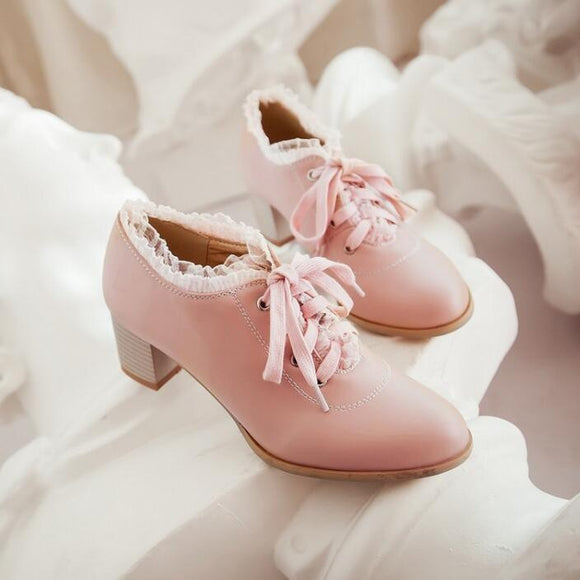 Womens Trend Lace Cute Lolita Lace Shoes by Pick a Product