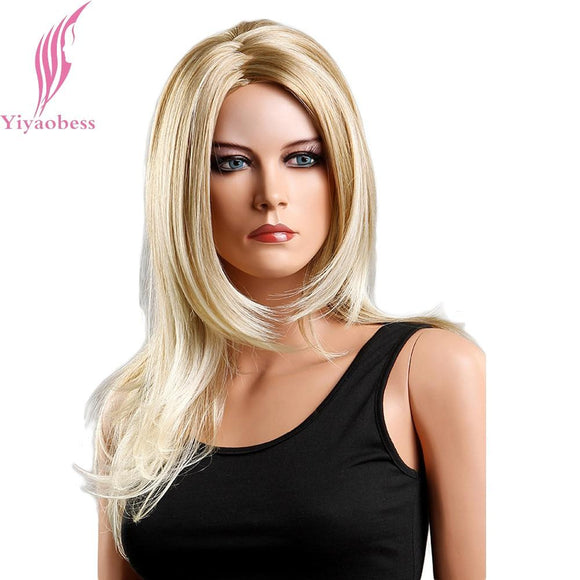 Yiyaobess 18inch Japanese Fiber Long Blonde Wig - little-darling-fashion-online