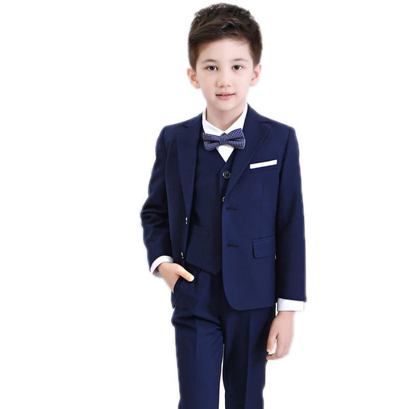 Boy Suit for Weddings Jackets+Pants+Shirt+Tie - little-darling-fashion-online