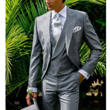Gray Tailcoat Men's Wedding 3 Piece Tuxedo by Pick a Product