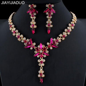 jiayijiaduo 5 colors new crystal wedding jewelry set by Pick a Product