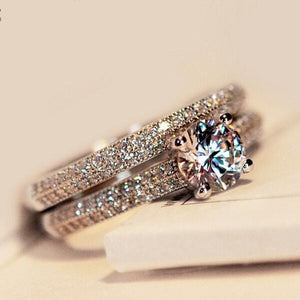 Sparkling Perfect Round Cut Zircon Wedding Ring - little-darling-fashion-online