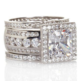 Luxury Full Round Zircon Cz 925 Sterling Silver Engagement/Wedding Band (Sizes 5-10) - little-darling-fashion-online