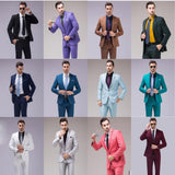 12 Color 2 Pce Slim Fit Men's Business Suit by Pick a Product