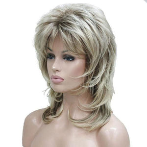 Women's Blonde with Dark Root Layered Synthetic Wig by Pick a Product