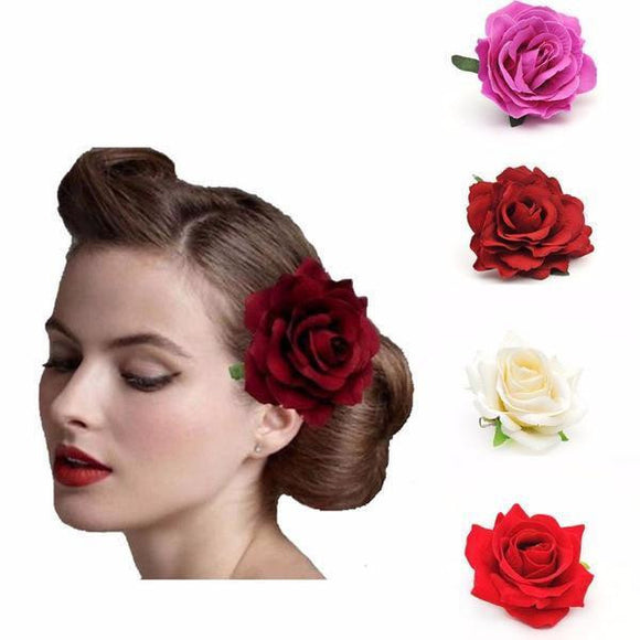 1 Piece Women's Fabric Rose Hair Clip by Pick a Product