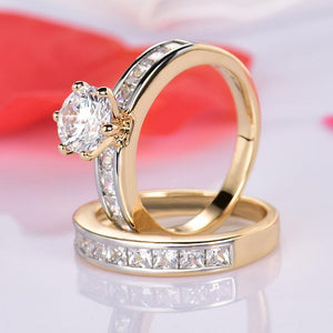 High Quality Classic Gold-Color Women Wedding Band - little-darling-fashion-online