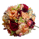 Silk Wedding Flower Dahlia Wild Flowers Roses Bouquets 3 Piece Set (Sizes S and L) - little-darling-fashion-online