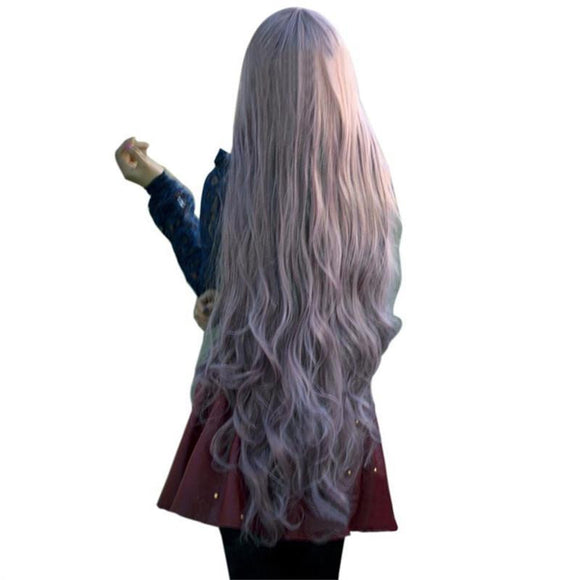 Women Lady Long Curly Wavy Hair Full Wigs Cosplay Party Anime Lolita Wig 100cm - little-darling-fashion-online