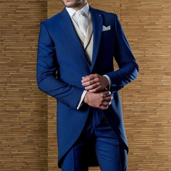 Italian Royal Blue Tuxedo Slim Fit 3 Piece (XS-6XL) by Pick a Product