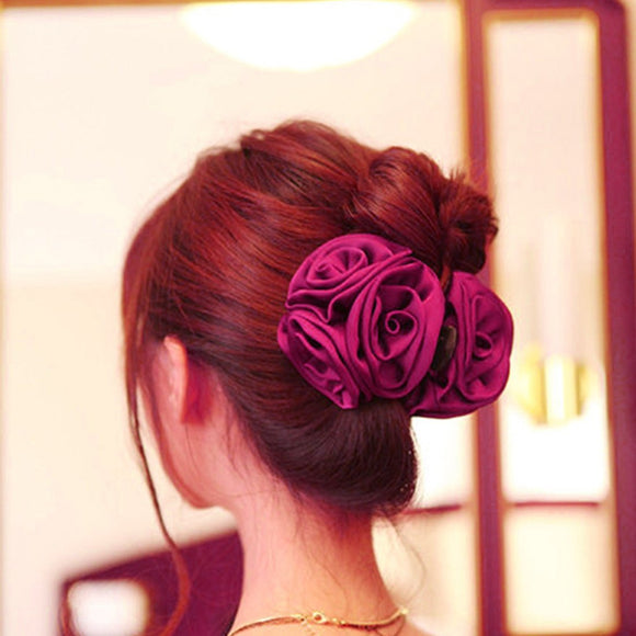 Korean 1 X Elegant Flower Hair Claw by Pick a Product
