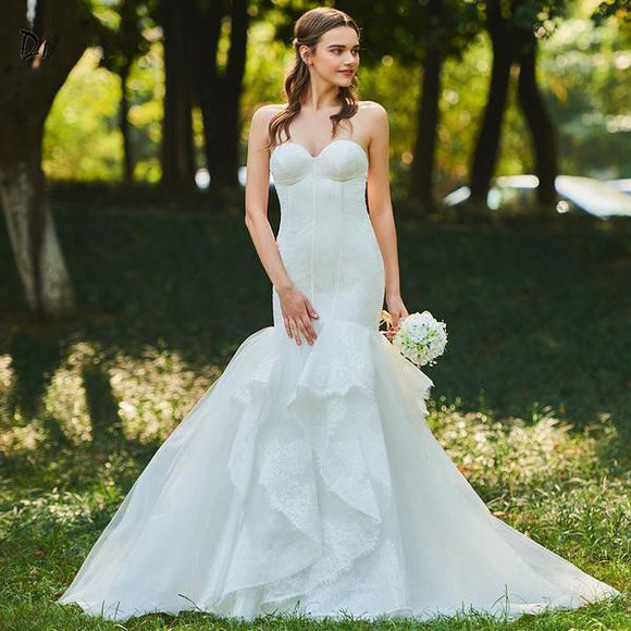 Sweetheart Mermaid Wedding Dress with Court Train by Pick a Product