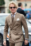 Italian Style Khaki Men's Wedding Prom Business Suits by PickAProduct