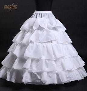 Petticoat For Wedding Dresses 5 Layers Women Underskirt White Black jupon crinoline sottogonna hoop skirt hoepelrok - little-darling-fashion-online