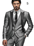 Best Selling Men's Italian Suit Picture 21 (Jacket+Pants+Vest) XS-4XL - little-darling-fashion-online