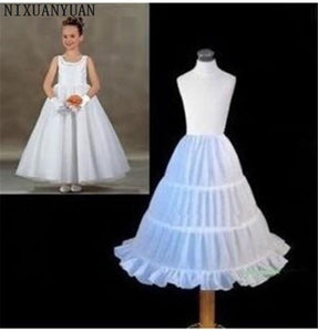 Flower Girl Petticoat Underskirt A-line 3 Hoops - little-darling-fashion-online