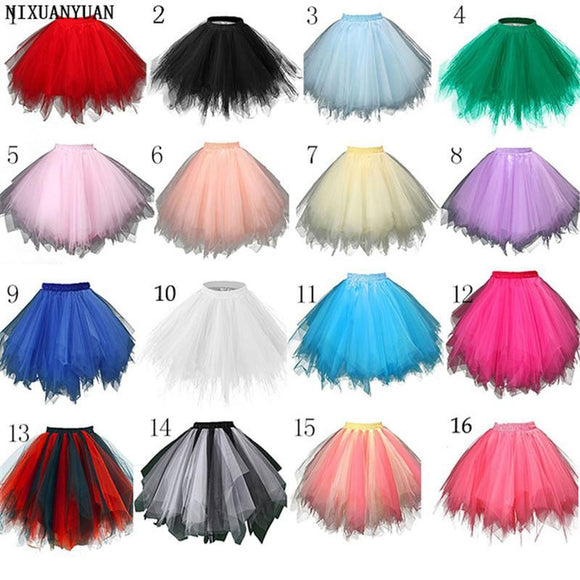 NIXUANYUAN In Stock Multi Colored Short Petticoat Tulle Crinoline 2018 Hot Sale Underskirt For Girl Cheap Wedding Accessories - little-darling-fashion-online
