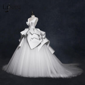 Elegant Ruched Vintage Wedding Dress Vestido De Noiva (2-26W + Custom Size)
