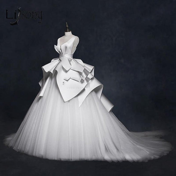 Elegant Ruched Vintage Wedding Dress Vestido De Noiva (2-26W + Custom Size) - little-darling-fashion-online
