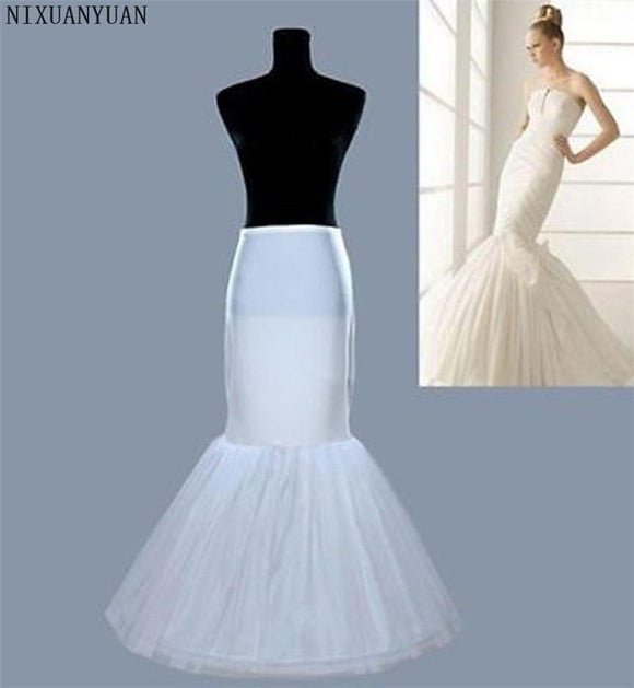 NIXUANYUAN Fast Shipping Top Fasion Petticoat for Mermaid Style Fishtail Crinoline Underskirt Wedding Petticoat Accessories - little-darling-fashion-online
