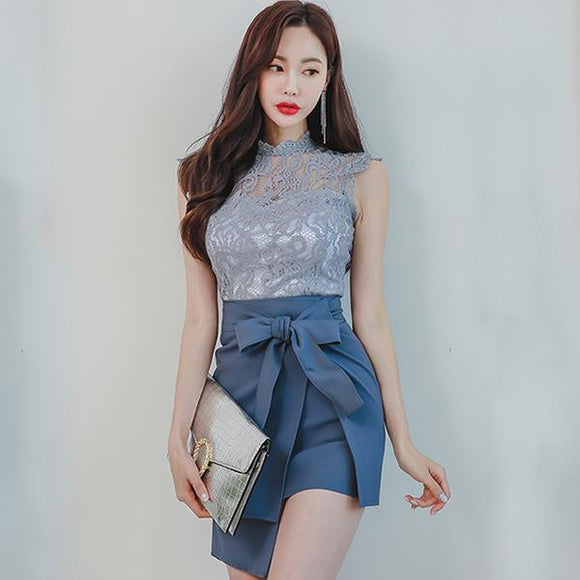 Summer Sleeveless Lace Skirt Set (S-XL) by Pick a Product