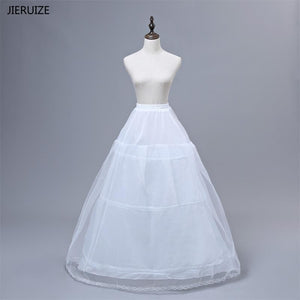 WINTER WEDDING DRESSES JIERUIZE High Quality White Petticoat with 3 Hoops