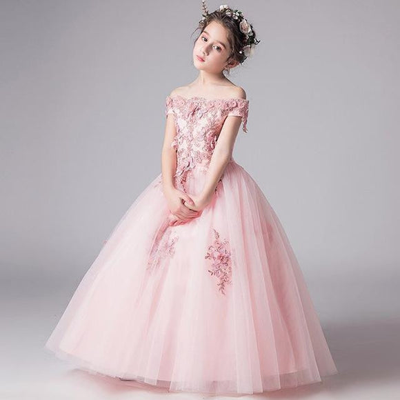 2018 Romantic Beaded Flower Girl Dress by Pick a Product