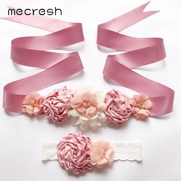 Flower Girl Dress Pink Belt & Head Band