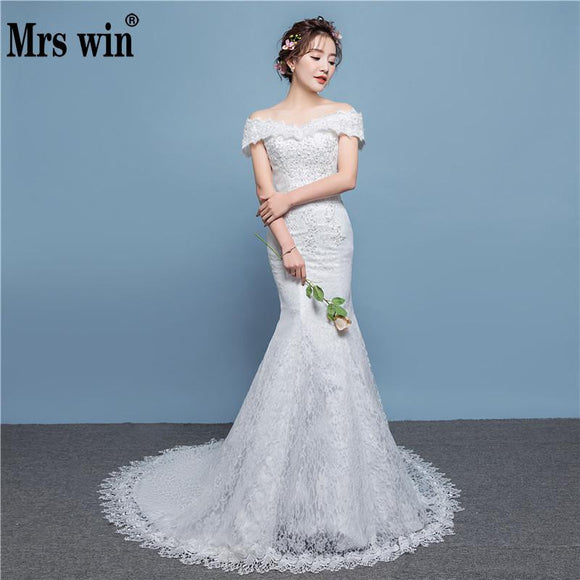 2019 New Off Shoulder Mermaid Wedding Dress by Pick a Product