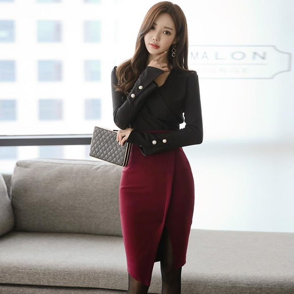 Winter OL Suit Clothing Sets - little-darling-fashion-online