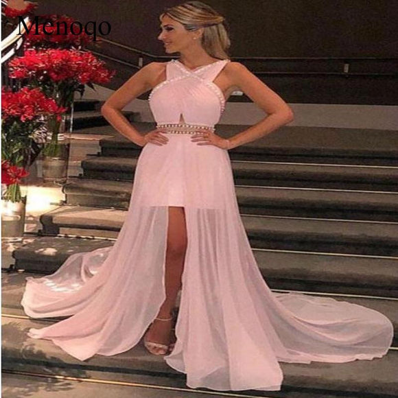 Menoqo 2019 Evening Dresses with Straps - little-darling-fashion-online