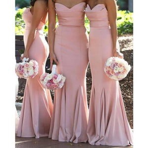 Pink Mermaid Floor Length Bridesmaid Dresses by Pick a Product