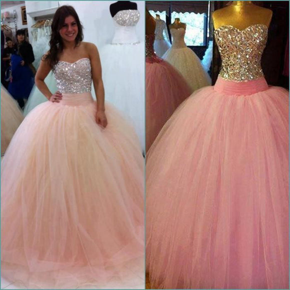 Tulle Crystal Vestido de Festa Ball Gown by Pick a Product