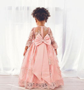 Pink Girls Birthday Gowns with Big Bow