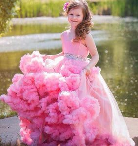 Hot Pink Nice Ball Gown Girls Pageant Dresses