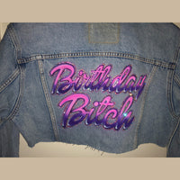 Custom Name Swarovski Jacket