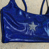 Navy Holo Star Top