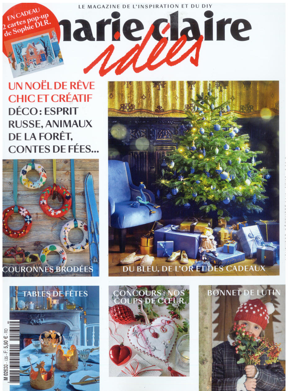 PUBLICATION - MARIE CLAIRE IDEES NOVEMBER DECEMBER 2019