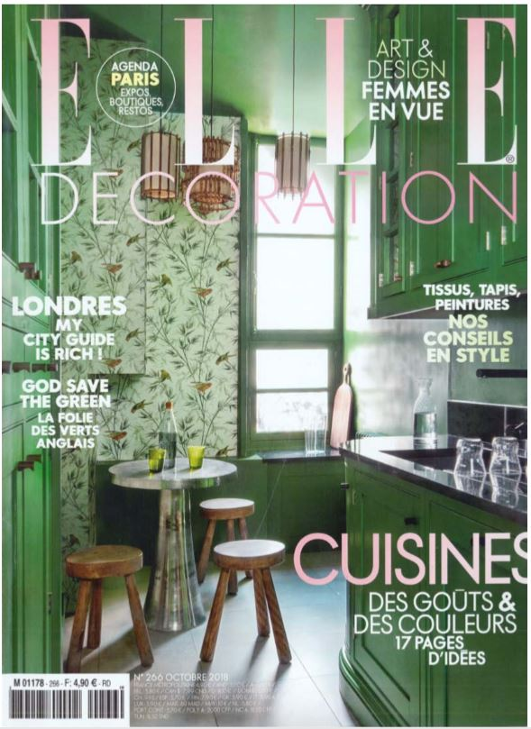 PARUTION - ELLE DECORATION OCTOBRE 2018