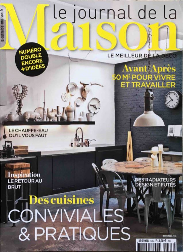 PARUTION - LE JOURNAL DE LA MAISON NOV 2018