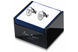 Etched Oval Letters Cufflinks