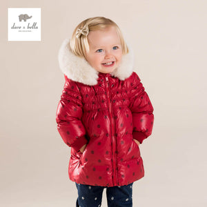 Dave & Bella red dot hooded outerwear